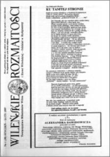 Wileńskie Rozmaitości 1997 nr 1 (39) styczeń-luty
