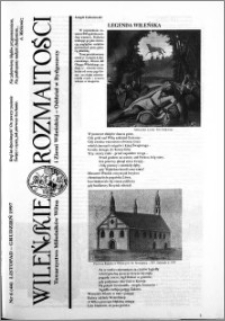 Wileńskie Rozmaitości 1997 nr 6 (44) listopad-grudzień