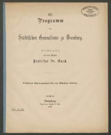 12. Programm des Städtischen Gymnasiums zu Dramburg