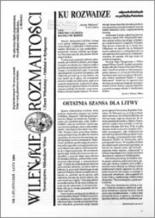 Wileńskie Rozmaitości 2000 nr 1 (57) styczeń-luty