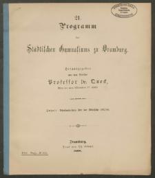 21.Programm des Städtischen Gymnasiums zu Dramburg