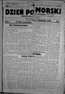 Dzień Pomorski, 1929.11.11, R. 1 nr 1