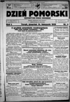 Dzień Pomorski, 1929.11.14, R. 1 nr 4