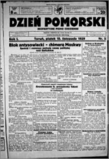 Dzień Pomorski, 1929.11.15, R. 1 nr 5