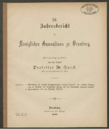 23. Jahresbericht des Königlichen Gymnasiums zu Dramburg