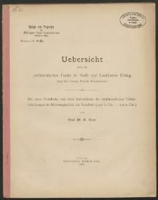 Uebersicht über die prähistorischen Funde im Stadt- und Landkreise Elbing