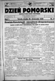 Dzień Pomorski, 1929.11.20, R. 1 nr 9