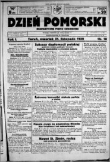 Dzień Pomorski, 1929.11.21, R. 1 nr 10