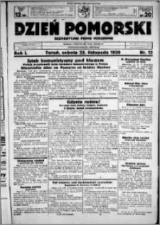 Dzień Pomorski, 1929.11.23, R. 1 nr 12