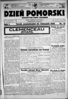 Dzień Pomorski, 1929.11.25, R. 1 nr 13