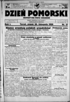 Dzień Pomorski, 1929.11.29, R. 1 nr 17