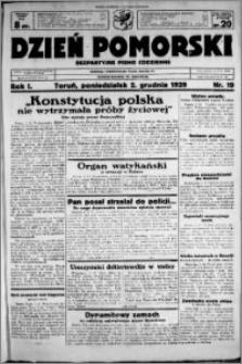 Dzień Pomorski, 1929.12.02, R. 1 nr 19