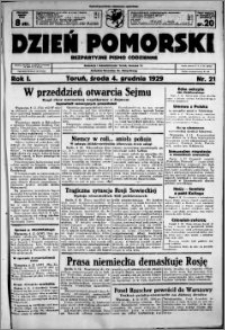 Dzień Pomorski, 1929.12.04, R. 1 nr 21