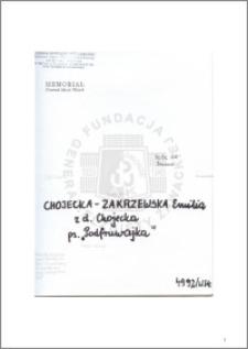 Chojecka-Zakrzewska Emilia