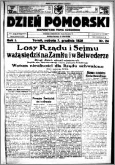 Dzień Pomorski, 1929.12.07, R. 1 nr 24