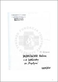Dąbkowska Halina