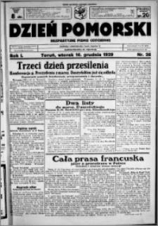 Dzień Pomorski, 1929.12.10, R. 1 nr 26