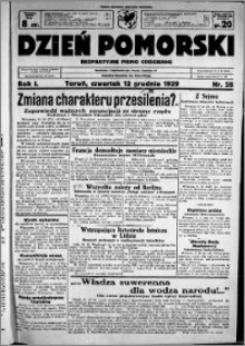 Dzień Pomorski, 1929.12.12, R. 1 nr 28