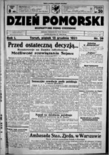 Dzień Pomorski, 1929.12.13, R. 1 nr 29