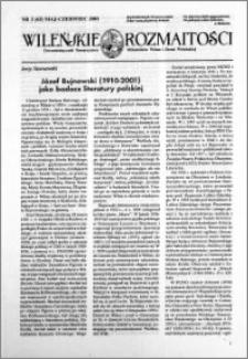 Wileńskie Rozmaitości 2001 nr 3 (65) maj-czerwiec