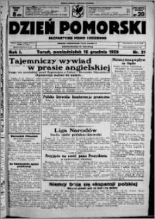 Dzień Pomorski, 1929.12.16, R. 1 nr 31
