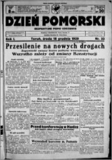 Dzień Pomorski, 1929.12.18, R. 1 nr 33