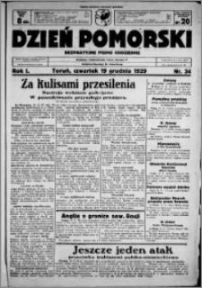 Dzień Pomorski, 1929.12.19, R. 1 nr 34