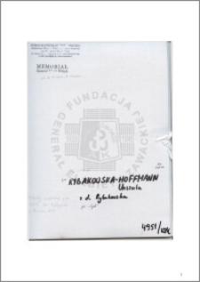 Rybakowska-Hoffmann Urszula