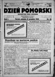 Dzień Pomorski, 1929.12.21, R. 1 nr 36