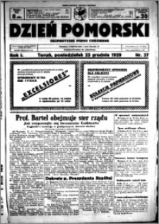 Dzień Pomorski, 1929.12.23, R. 1 nr 37