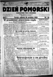 Dzień Pomorski, 1929.12.28, R. 1 nr 40