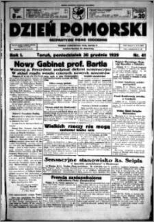 Dzień Pomorski, 1929.12.30, R. 1 nr 41