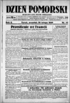 Dzień Pomorski, 1930.02.20, R. 2 nr 42