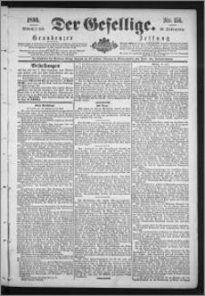 Der Gesellige : Graudenzer Zeitung 1890.07.02, Jg. 64, No. 151