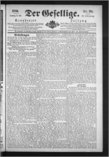 Der Gesellige : Graudenzer Zeitung 1890.07.13, Jg. 65, No. 161