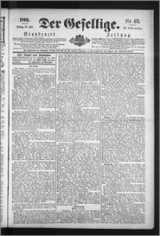 Der Gesellige : Graudenzer Zeitung 1890.07.25, Jg. 65, No. 171