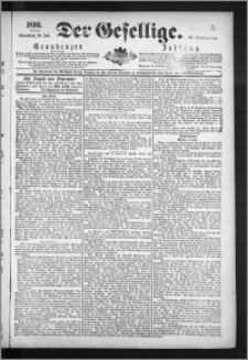 Der Gesellige : Graudenzer Zeitung 1890.07.26, Jg. 65, No. 172