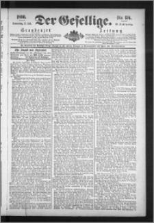 Der Gesellige : Graudenzer Zeitung 1890.07.31, Jg. 65, No. 176