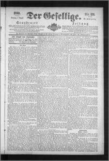 Der Gesellige : Graudenzer Zeitung 1890.08.03, Jg. 65, No. 179