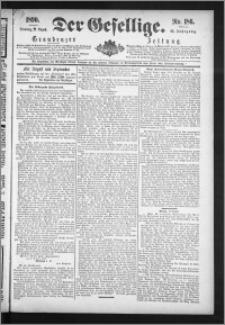 Der Gesellige : Graudenzer Zeitung 1890.08.12, Jg. 65, No. 186