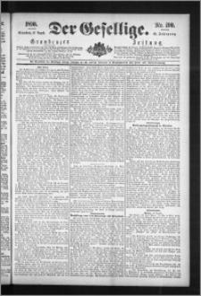 Der Gesellige : Graudenzer Zeitung 1890.08.16, Jg. 65, No. 190