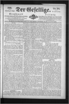 Der Gesellige : Graudenzer Zeitung 1890.08.21, Jg. 65, No. 194