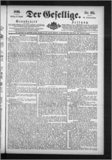 Der Gesellige : Graudenzer Zeitung 1890.08.22, Jg. 65, No. 195
