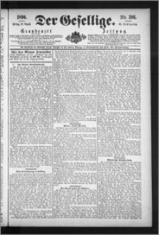 Der Gesellige : Graudenzer Zeitung 1890.08.29, Jg. 65, No. 201