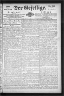 Der Gesellige : Graudenzer Zeitung 1890.08.31, Jg. 65, No. 203
