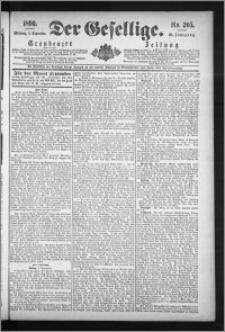 Der Gesellige : Graudenzer Zeitung 1890.09.03, Jg. 65, No. 205