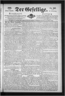 Der Gesellige : Graudenzer Zeitung 1890.09.05, Jg. 65, No. 207