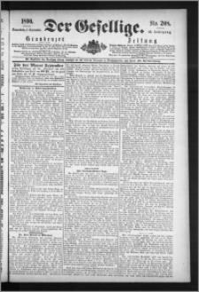 Der Gesellige : Graudenzer Zeitung 1890.09.06, Jg. 65, No. 208