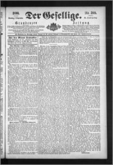 Der Gesellige : Graudenzer Zeitung 1890.09.07, Jg. 65, No. 209