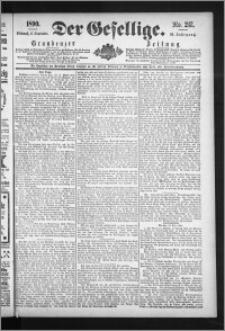Der Gesellige : Graudenzer Zeitung 1890.09.17, Jg. 65, No. 217